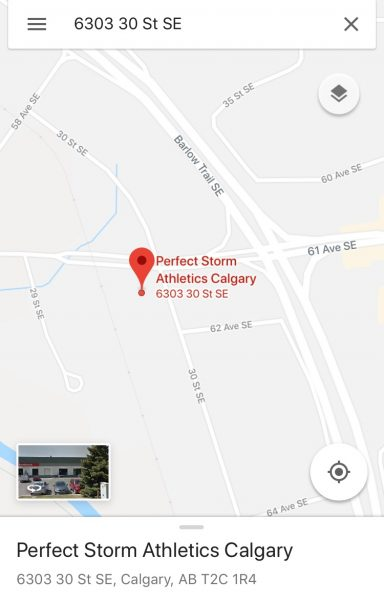 Directions - Perfect Storm Athletics - Calgary on
